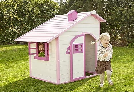 Sun Casa de juguete Niños casa de juguete para exterior Rosa Jardín Hogar infantil niños parte