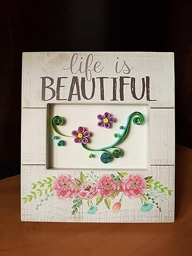 Amazon Com Lmc Handmade Flower Paper Quilling Home Decor House