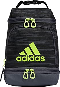 adidas Excel Insulated Lunch Bag, Black/Onix/Green, OSFA