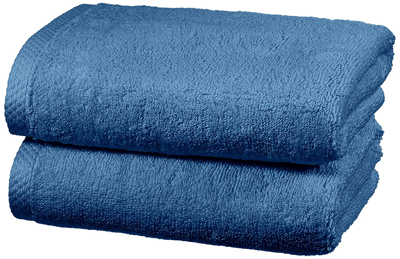 AmazonBasics - Juego de 2 toallas de secado rápido, 2 toallas de mano - Azulón: Amazon.es: Hogar