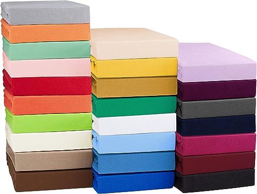 SHC Textilien Sábana Bajera Ajustable Jersey para colchones con o ...