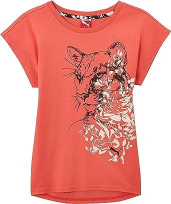PUMA T-Shirt Trend tee - Camiseta/Camisa Deportiva para niña