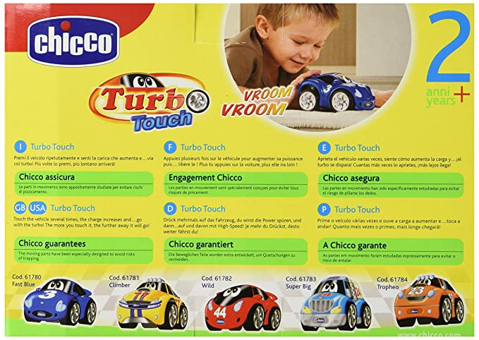 Chicco - Turbo Touch, Fast Blue, coche de cuerda (00061780000000): Amazon.es: Bebé