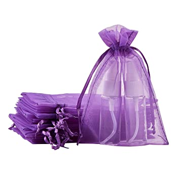 2566e45c3 BENECREAT 100 PCS Bolsas de Organza Bolsa de Regalo Envase de Abalorios  Dulce Chocolate para Fiesta Boda Cumpleaño y Navidad 10x15cm Púrpura:  Amazon.es: ...
