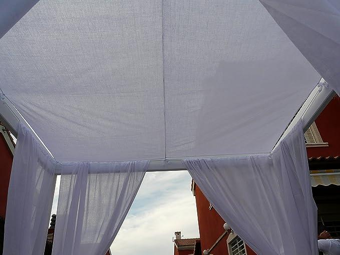 ESTRUCMADER - Cama balinesa con Cama de 2x2m, Nogal-Blanco ...