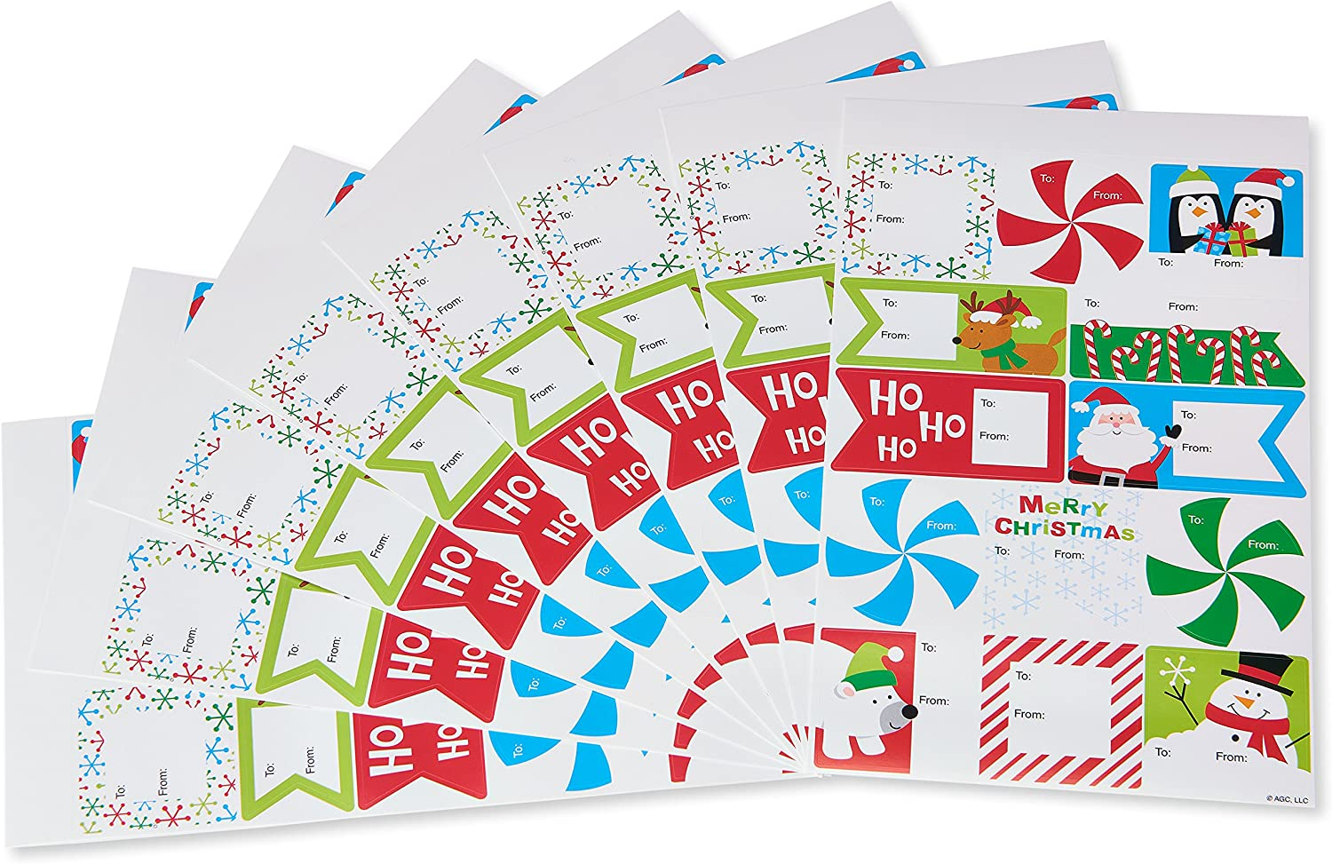 American Greetings Christmas Gift Package Labels To and From ~ 104 Stickers