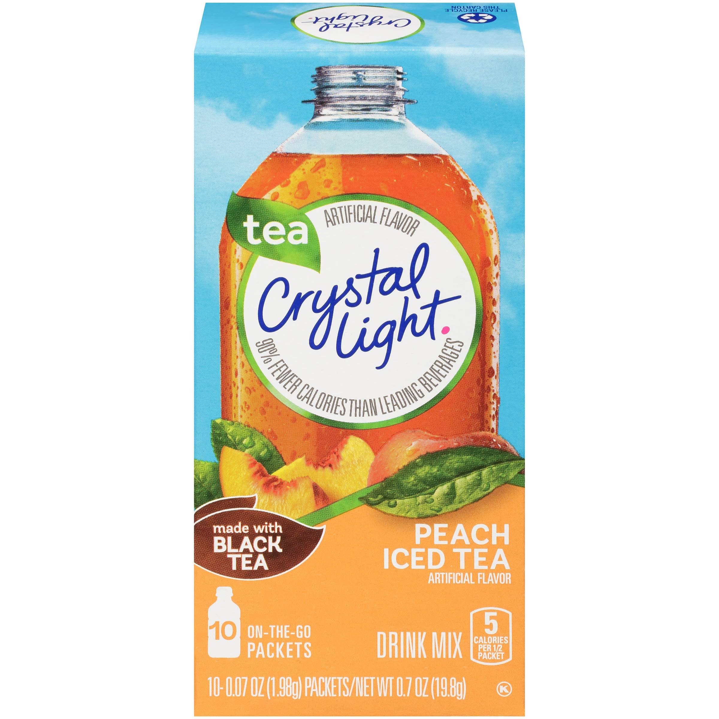 Crystal Light On The Go Peach Iced Tea, 10-Packet Box (Pack of 10)