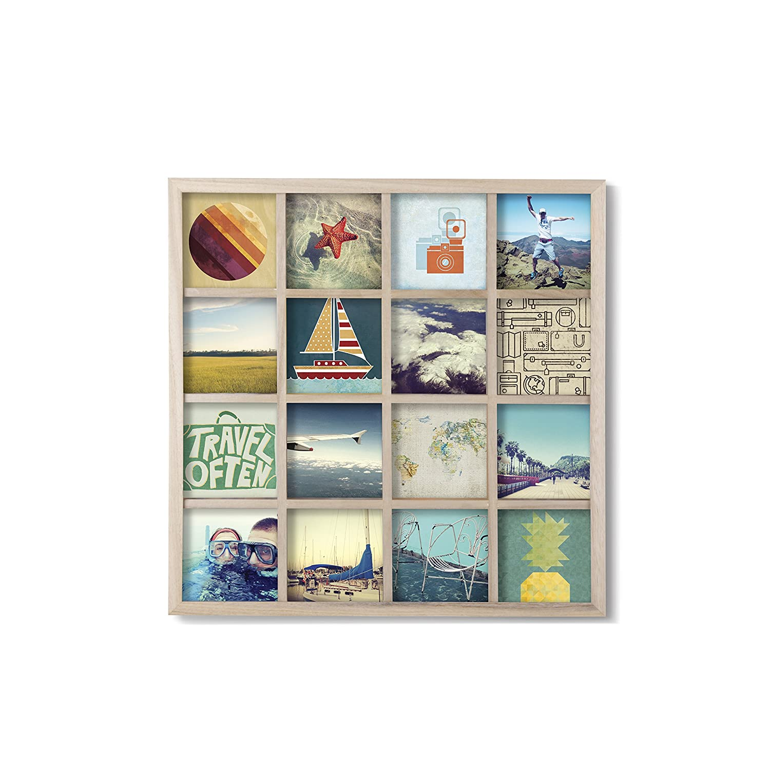 Amazon umbra gridart 4x4 picture frame diy gallery style amazon umbra gridart 4x4 picture frame diy gallery style multi picture photo collage frame displays 16 square 4 by 4 inch photos illustrations jeuxipadfo Images