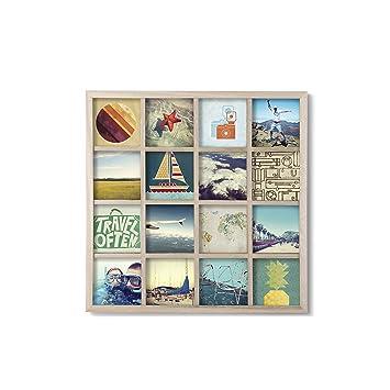 Umbra Gridart 10x10cm Bilderrahmen Collage für 16 quadratische 10x10 ...