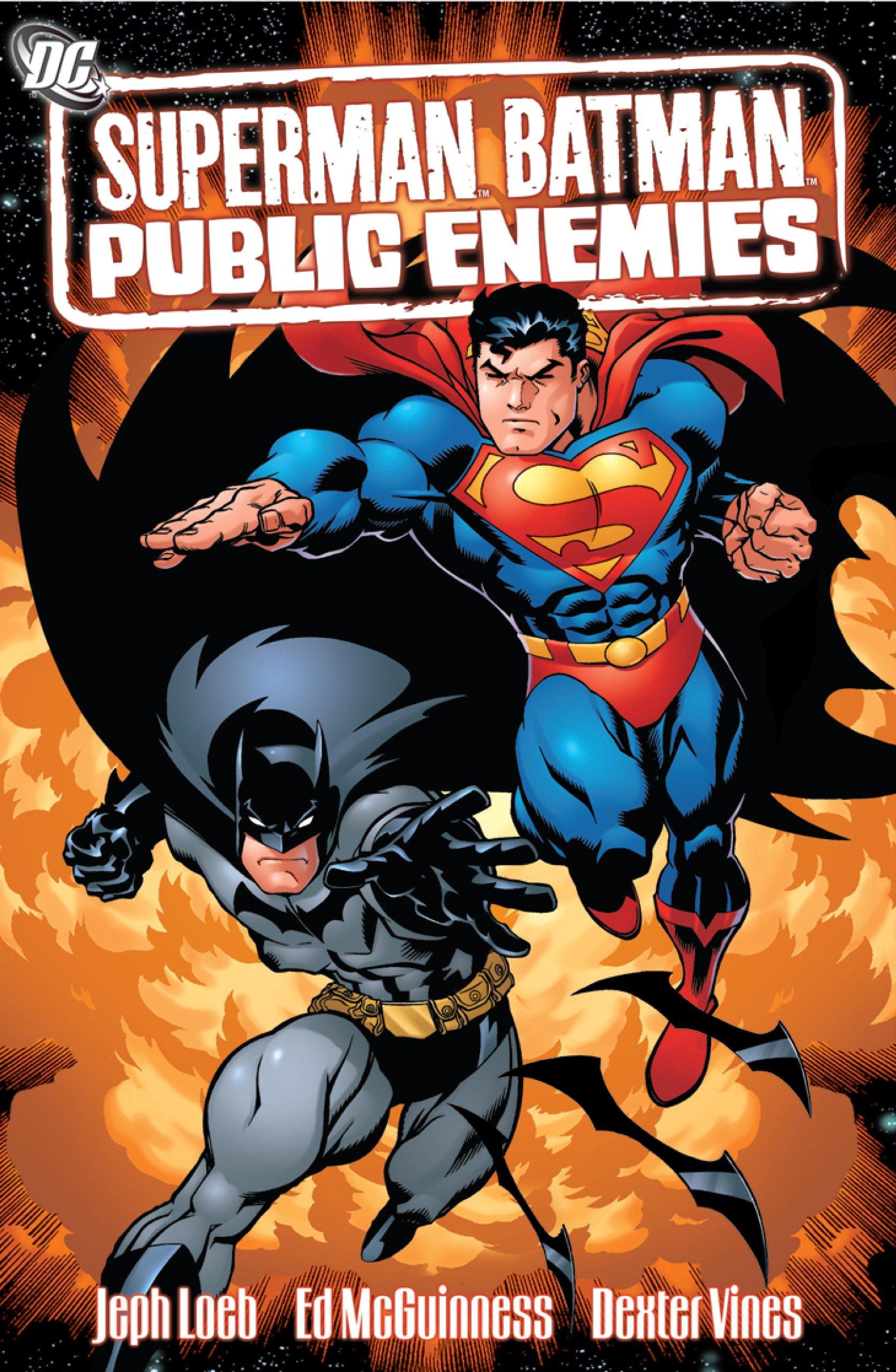 Amazon Superman Batman VOL 01 Public Enemies Graphic Novels 9781401202200 Jeph Loeb Ed McGuinness Books