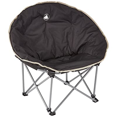 10T Moonchair Chaise de camping pliant léger et stable Noir/Beige