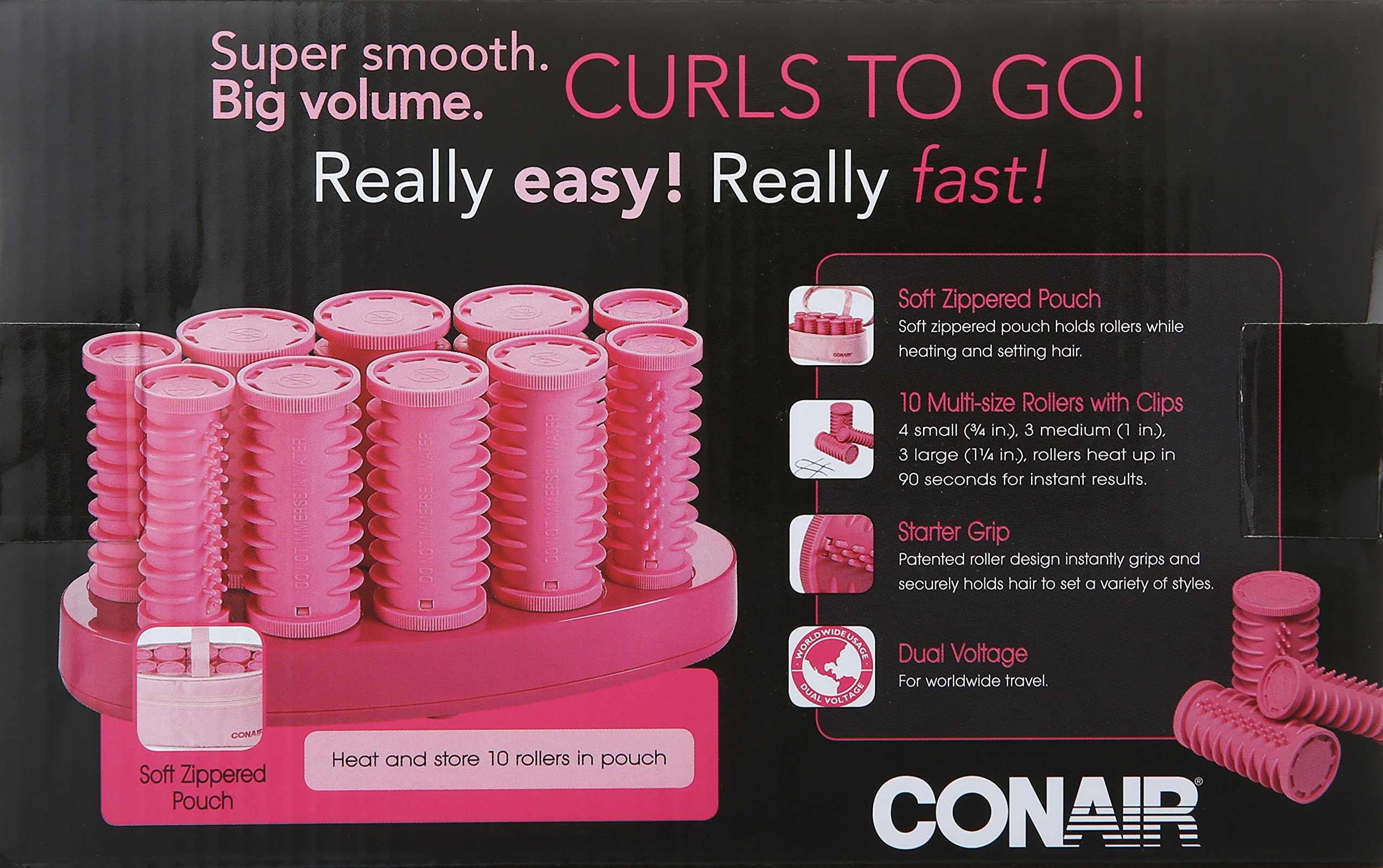 Conair Instant Heat Compact Hot Rollers; Pink by Conair (Image #2)