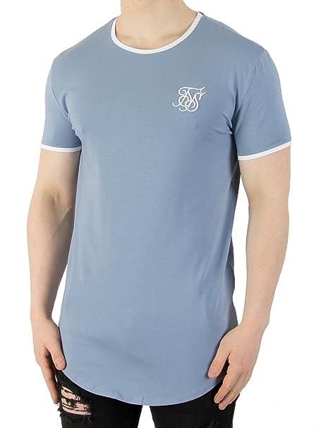 Camiseta Siksilk – S/s Heritage Gym Azul/Blanco Talla: L (Large