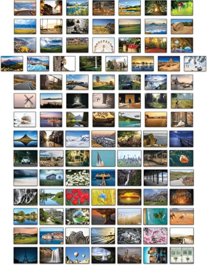 Paisajes postales – 100 tarjetas postales diferentes: Amazon.es: Oficina y papelería