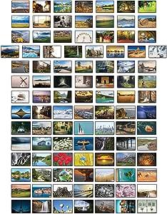 Paisajes postales – 100 tarjetas postales diferentes: Amazon.es ...