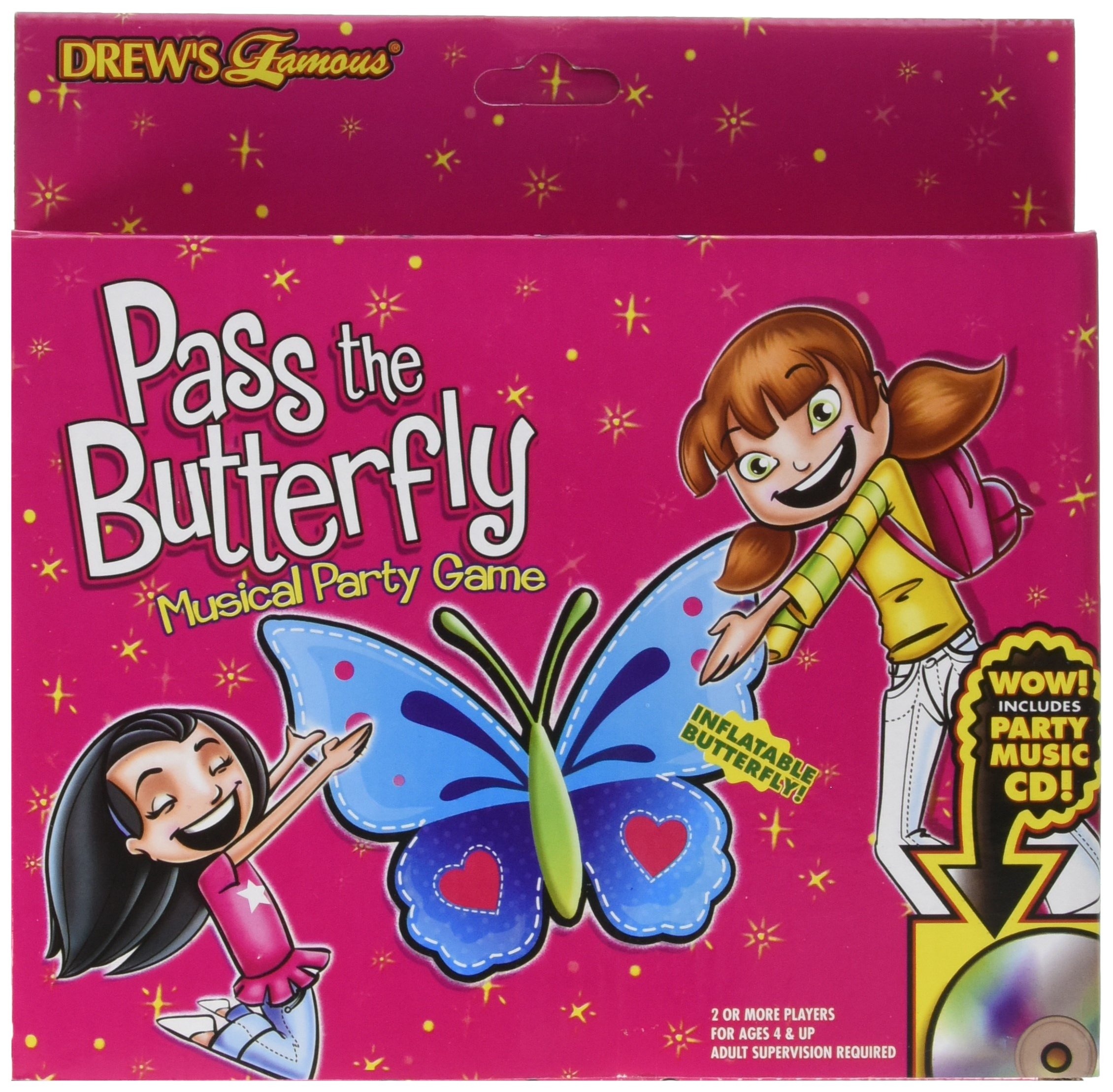 amscan Pass The Butterfly Game | Drew's Famous Collection | Party Accessory | 6 Kits