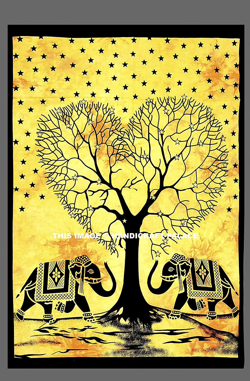 Amazon.com: Indian Mandala Wall Hanging Tapestry Cotton Poster ...