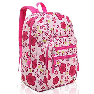 Amazon.com | MGgear Pink / Purple Spring Flowers Pattern Daypack ...