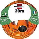 Brennenstuhl 1162301 - Cordon prolongateur (30 m) avec fiche 2P (16A/230V), rallonge électrique avec câble H05VV-F 2x1,5 - Coloris Orange