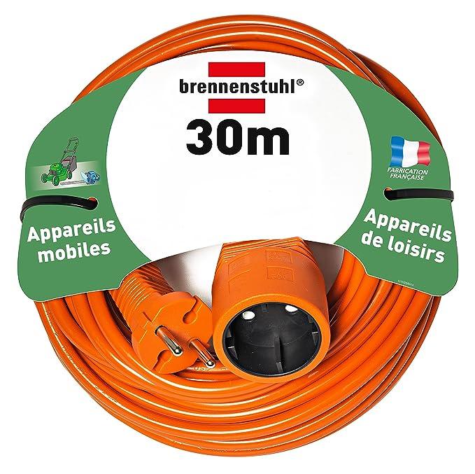 Brennenstuhl 1162201 - Cable de extensión de 20m h05vv-f 2x1.5 ...