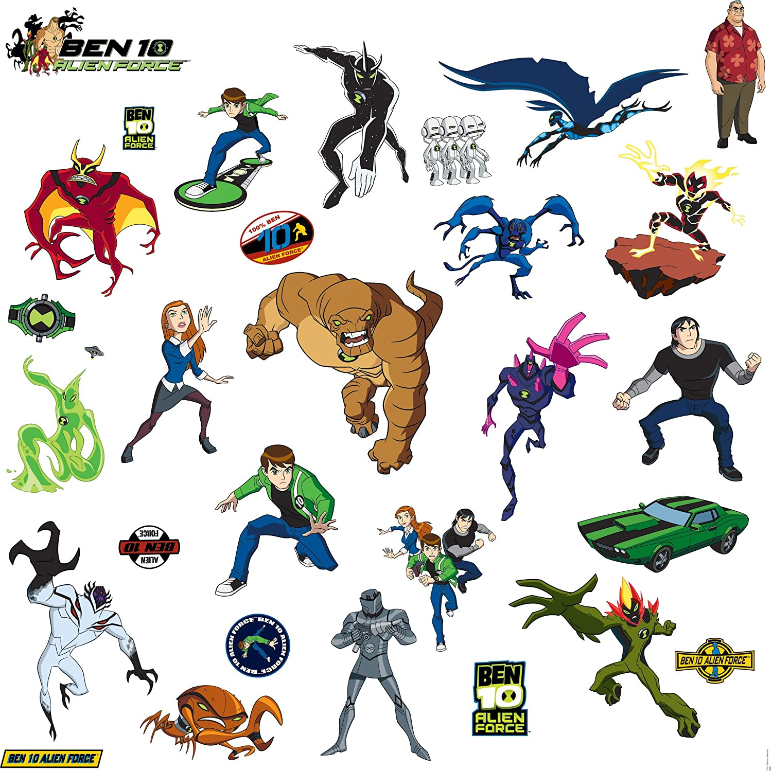 Roommates Rmk1321scs Ben 10 Peel And Stick Wall Decals Wall Stickers Murals Amazon Canada