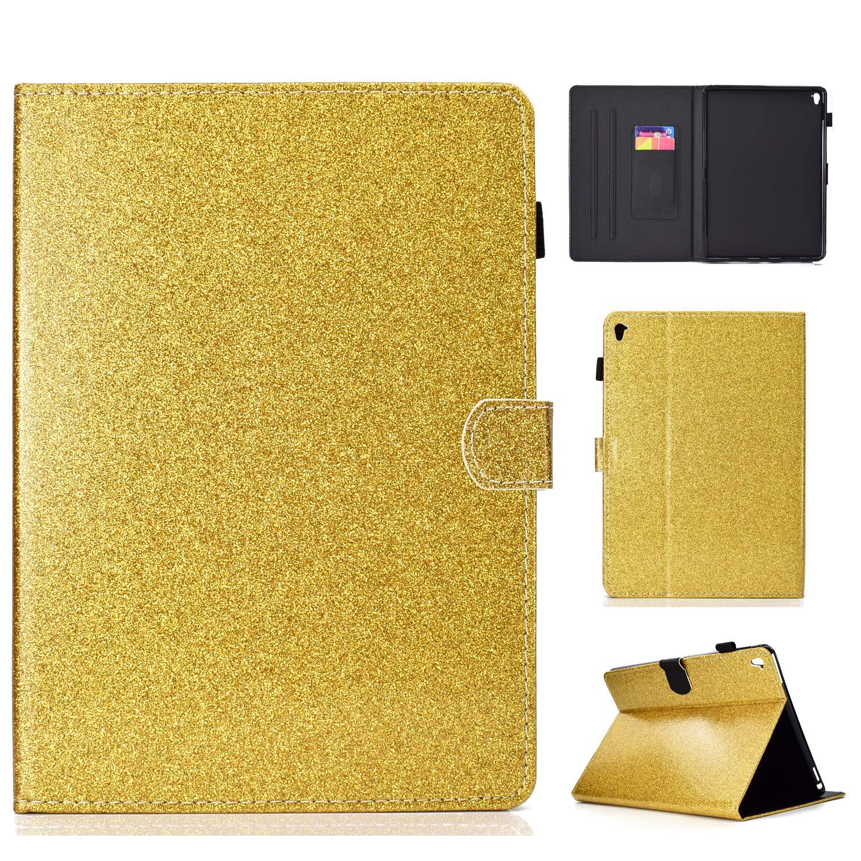 Happon iPad Pro 9.7インチケース、iPad Pro 携帯電話ケース 9.7インチケース 9.7インチ用、携帯電話ケース iPad プレミアムPUレザー ウォレット スナップケース 携帯電話ケース フリップカバー iPad Pro 9.7インチ用 ブラック, W3WP-43-983 ゴールド B07HR9YKV6, AVALANCHE GOLD&JEWELRY:bc0e8cef --- m2cweb.com