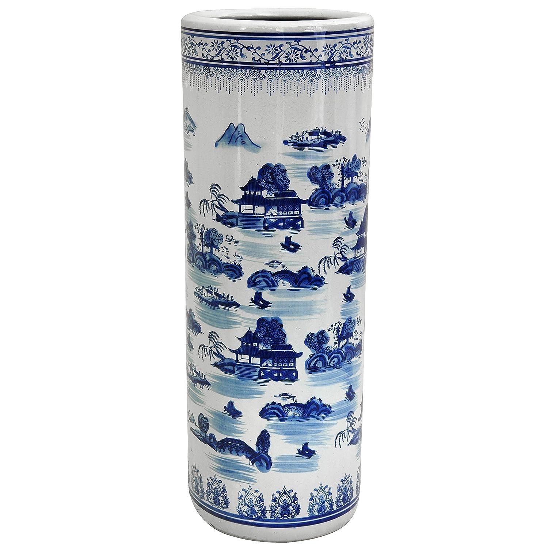 Amazon oriental furniture 24 floral blue white porcelain amazon oriental furniture 24 floral blue white porcelain umbrella stand home kitchen reviewsmspy