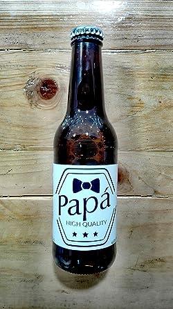 Cerveza personalizada regalo para el día del padre papa (Pack de 12 unidades): Amazon.es: Alimentación y bebidas