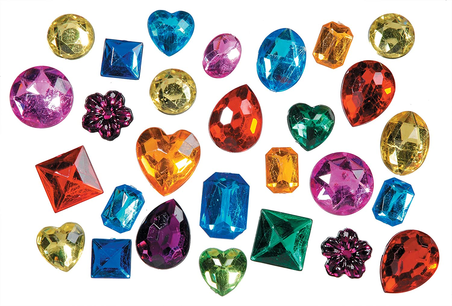 Darice 1075-20C Big Bling Shapes Gem Value Pack Rhinestones, Multicolor