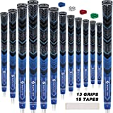 SAPLIZE Golf Grips Midsize Set of 13 with 15 Tapes or 13 Grips with Complete Regripping Kit All Weather Compound Cord…