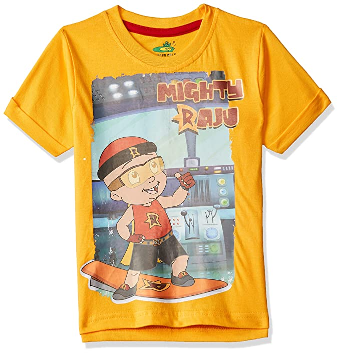 9c3dce81 Chhota Bheem Boy's Plain Regular Fit T-Shirt: Amazon.in: Clothing &  Accessories