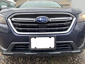 TN TrunkNets Inc A NASA-Like Rubber Heavy Duty Front License Plate Bracket Frame Tag Holder Guard Bumper for Ford