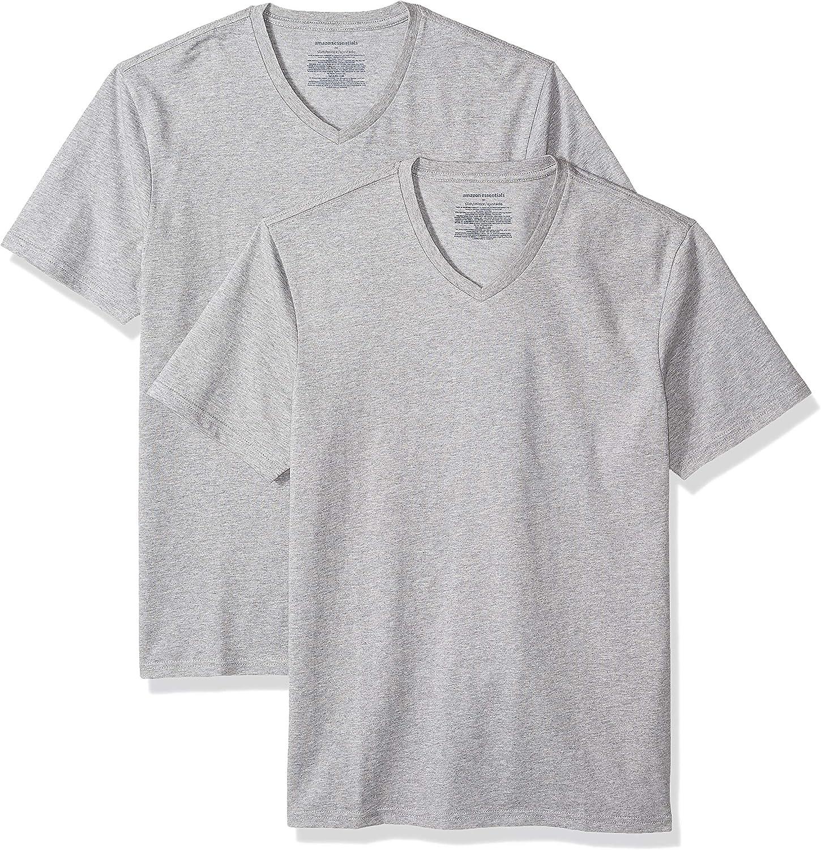 Amazon Essentials Men's 2-Pack Slim-Fit Short-Sleeve V-Neck T-Shirt
