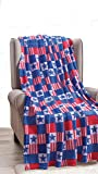 """Décor&More July 4th USA American Pride Collection Microplush Throw Blanket (50"""" x 60"""") - Patriotic Patchwork"""