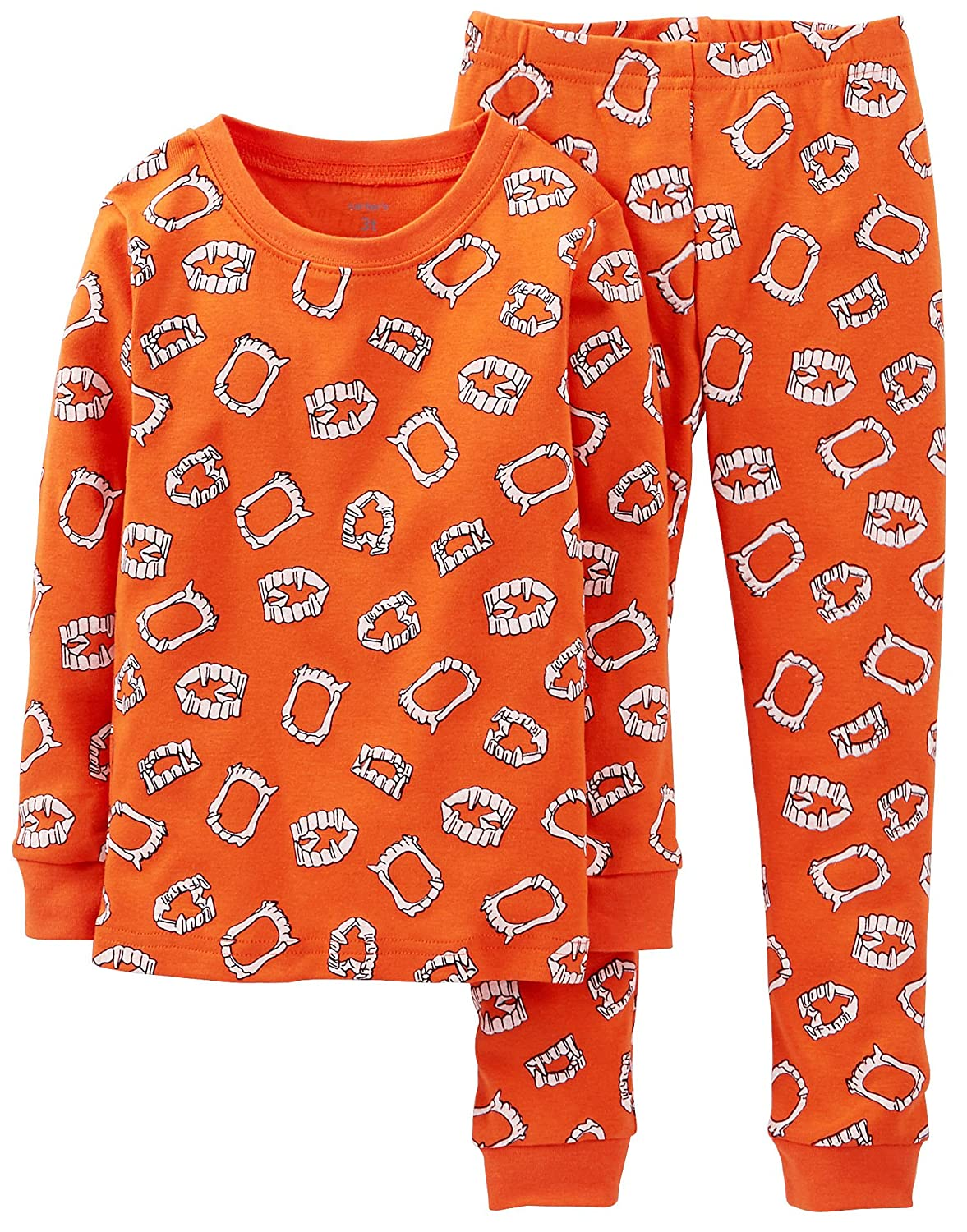 amazoncom carters little boys 2 piece halloween pajamas 12 months orange clothing