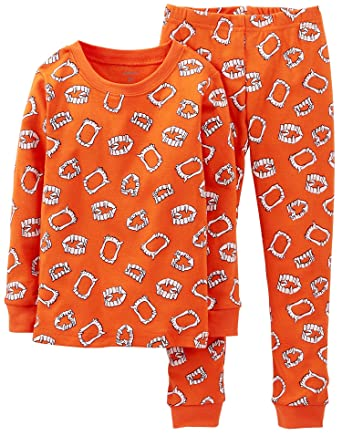 carters little boys 2 piece halloween pajamas 12 months orange
