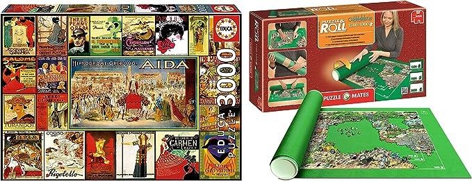 Outletdelocio. Pack Puzzle Educa 17676. Collage de Operas. 3000 Piezas + Tapete Puzzle Roll 3000 Piezas. 14240/4153: Amazon.es: Juguetes y juegos
