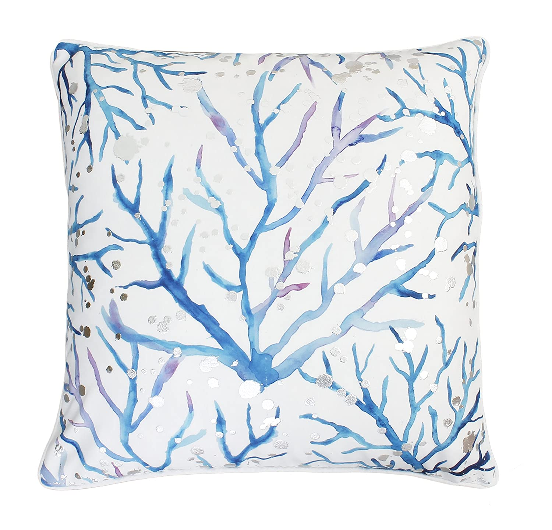Thro by Marlo Lorenz TH016078002E 20 x 20 Blue and Purple Tygna Fish Pillow