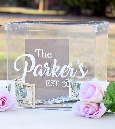 Amazon Clear Card Box Wedding Card Box Personalized Card – Card Box Wedding