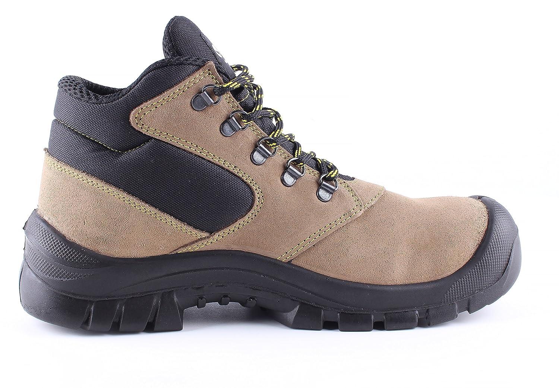 Atletic Ankle S1 - Botas de Seguridad para Trabajo - Ante - Puntera de Acero - Marrón: Amazon.es: Zapatos y complementos