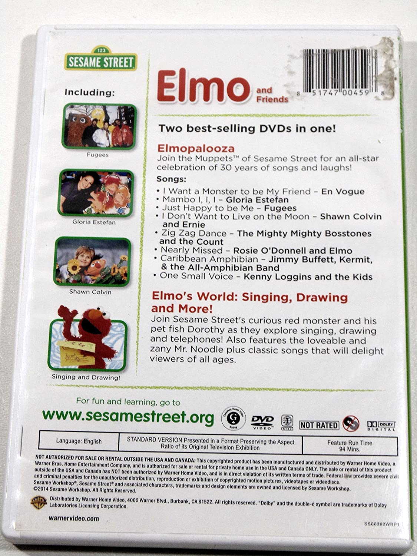Amazon Com Elmo And Friends Dvd Elmopalooza And Elmo S
