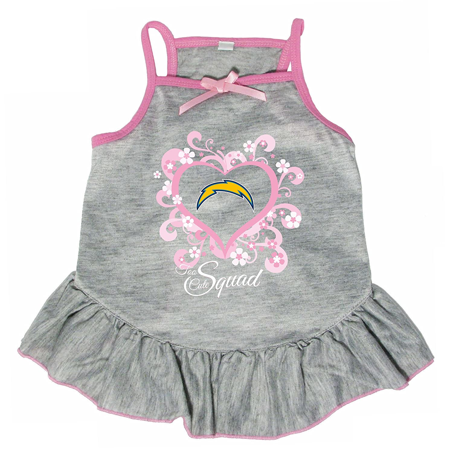 Hunter 4238-10-5700 NFL Chargers Too Cute Pet Dress, Large