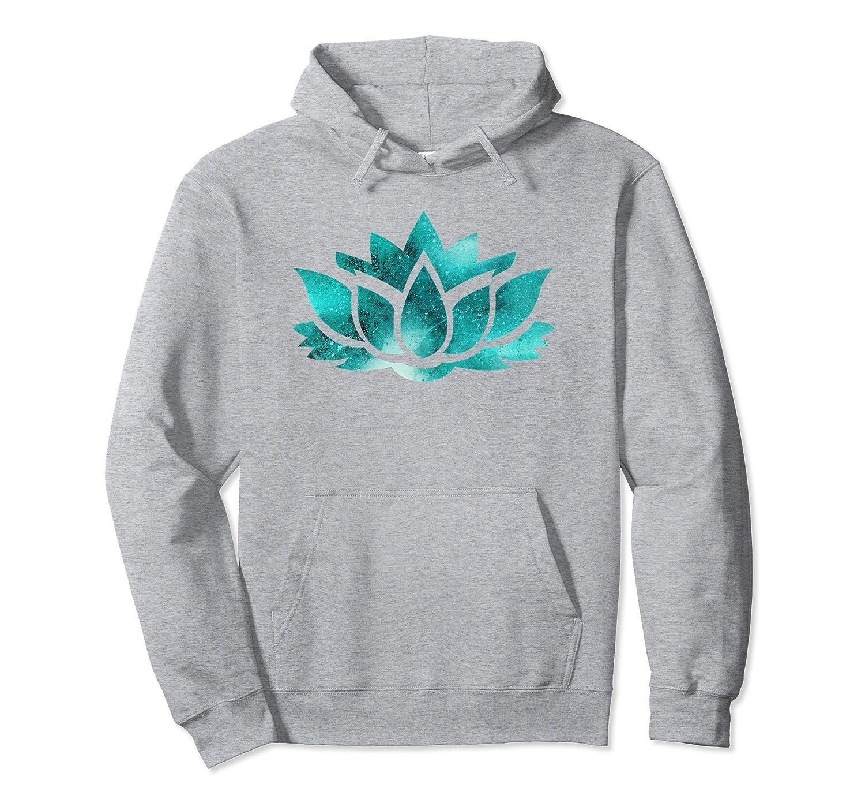 Lotus Flower Yoga Spiritual Dreamy Teal Colorful Hoodie Ah My Shirt