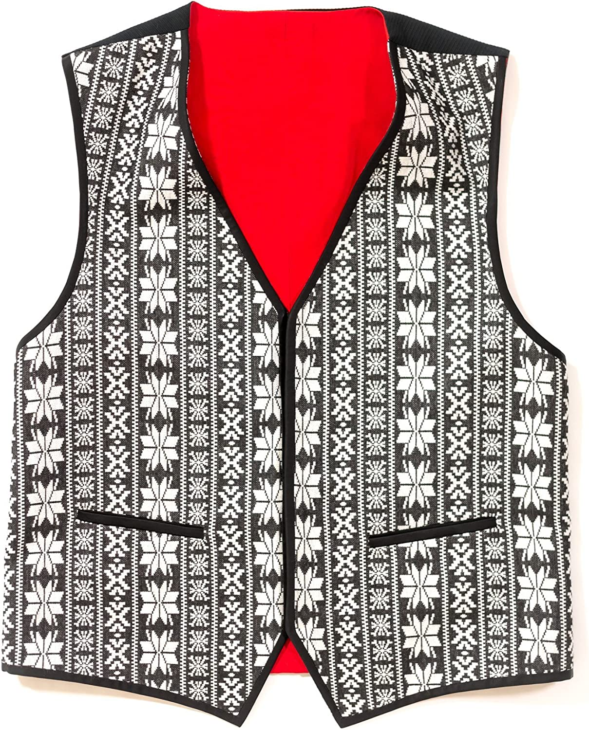 Chiragh Apparel Canterbury Mens V-Neck Tailored Fit 5 Button Dress Casual Vest Waistcoat