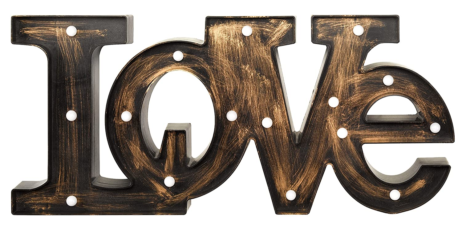 'Love' Illuminated Battery Operated Lumieres Sign Light Smart Garden