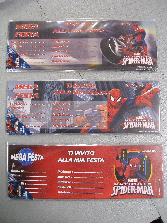 Invitación Cumpleaños Spiderman Marvel: Amazon.es: Hogar