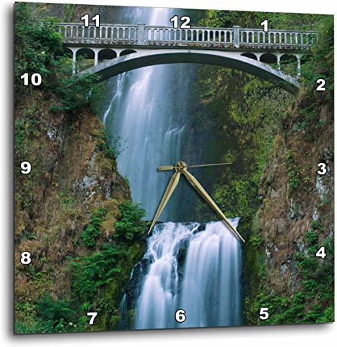 3dRose DPP_94100_3 Multnomah Falls, Columbia River Gorge, Oregon-US38 RKL0010-Raymond Klass-Wall Clock, 15 by 15-Inch