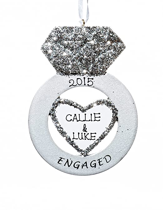 Workbook christmas kids worksheets : Amazon.com: Personalized Engagement Ring Christmas Ornament With ...