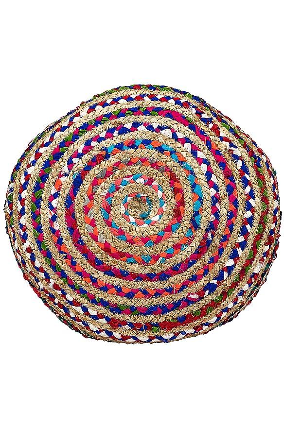 Marrakech Accessoires - Pouf redonda de yute 50 cm, incluye ...