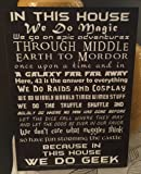 """""""In this House"""" We do Geek 15x11 Black Wood Sign"""